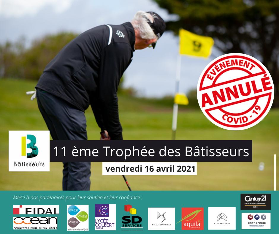 Annulation du 11ème Trophée de Golf